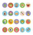 Business and Office Colored Icons 15 vector image