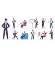 businessman character male office worker success vector image