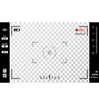 camera viewfinder photo or video camera vector image