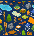 camping element or part set background pattern vector image vector image