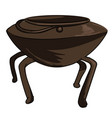 cauldron for brewing old kitchenware or casserole vector image
