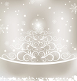 Celebration glowing card with Christmas floral pin vector image vector image