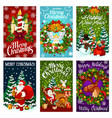 christmas and new year holiday greeting card vector image