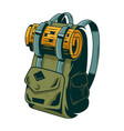 classic vintage backpack for trip vector image