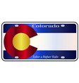 colorado state license plate flag vector image vector image