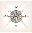 Compass rose sketch style vector image