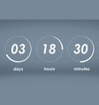 countdown web site template vector image