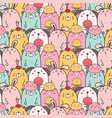 cute animal pattern background vector image vector image