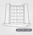 dam hydropower plant icon black and white outline vector image