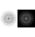 design set with cosmic circle pattern on white vector image
