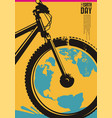 earth day poster design concept vector image