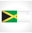 Envelope with Jamaican flag card vector image vector image