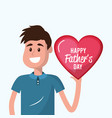 father with heart in the hand to father day vector image vector image