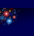 fireworks design with copy space vector image vector image