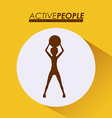 Fitness design vector image vector image
