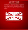 flag of great britain icon on red background vector image