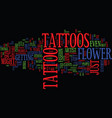 flower tattoos what do they mean text background vector image vector image