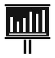 graph chart office banner icon simple style vector image vector image