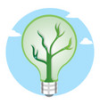 green light bulb as a symbol for renewable energy vector image