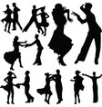 group dancers as a couple vector image