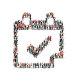 group people form checkmark vector image