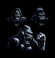 head an angry gorilla vector image vector image