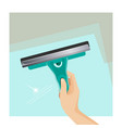 instrument for cleaning window scrubber and vector image vector image