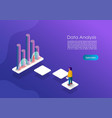 isometric data analytics concept banner can use vector image vector image