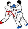 karate kid doodle vector image