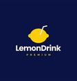 lemon drink logo icon vector image