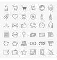 line online shopping and commerce icons big set vector image vector image