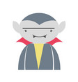 man vampiere with fangs and cape vector image vector image