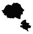 map romania and bucharest country and capital vector image vector image