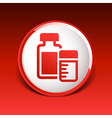 medication icon chemistry Flat design style vector image vector image