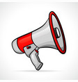 megaphone design isolated drawing vector image vector image