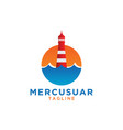 mercusuar logo design template vector image