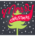 merry xmas lettering vector image vector image