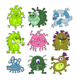 microbes collection vector image vector image