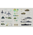 Military Infographics Flat vector image vector image