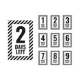 number days left countdown timer vector image vector image