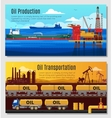 Oil Industry Horizontal Banners vector image vector image