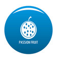 passion fruit icon blue vector image vector image