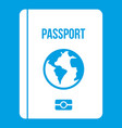 passport icon white vector image vector image