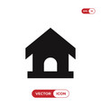 pet house icon vector image vector image