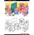 piglets pupil characters coloring book vector image