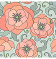 poppy pattern vector image vector image