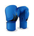 realistic blue boxing gloves icon isolated sport vector image vector image