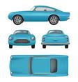 retro car realistic vintage automobile front vector image