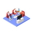 robotic service staff people and androids vector image vector image