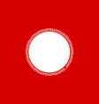 round frame with red background vector image vector image